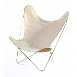 Hardoy Butterfly Chair - Leinenbezug mit Lederohren ab 640,– €