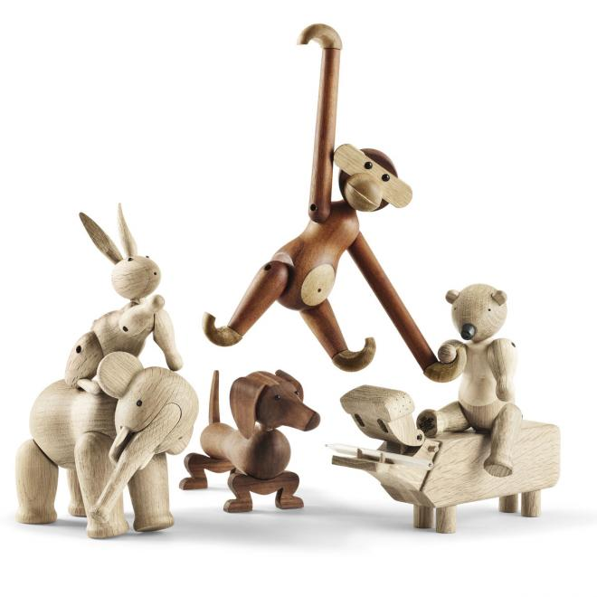 Holzfiguren, natur - Kay Bojesen