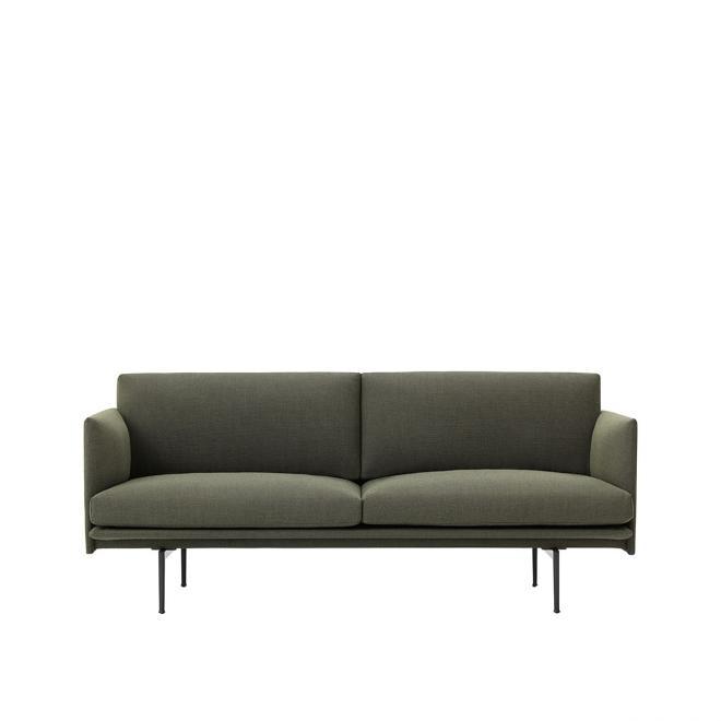 Sofa Outline - Khaki Grün