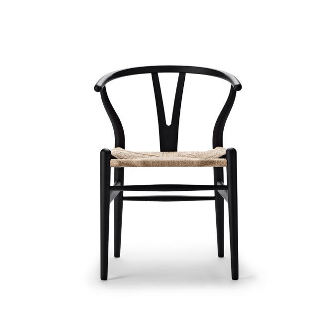 Special Edition Wishbone Chair CH24 Soft Soft Black