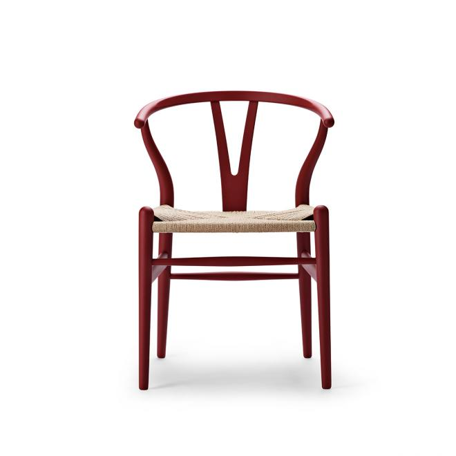 Special Edition Wishbone Chair CH24 Soft Soft Red