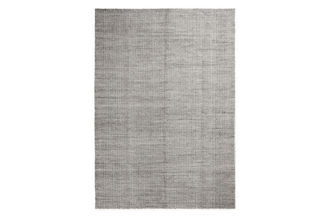 Teppich Moiré Kelim grau | klein