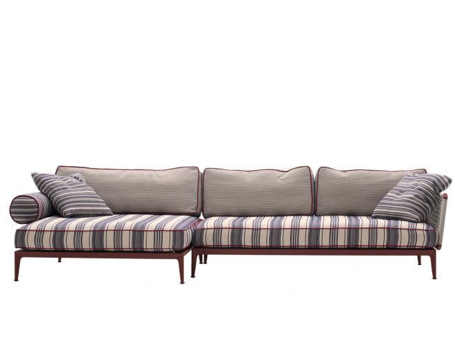Sofa Ribes Outdoor B 346 cm mit großer Chaiselongue