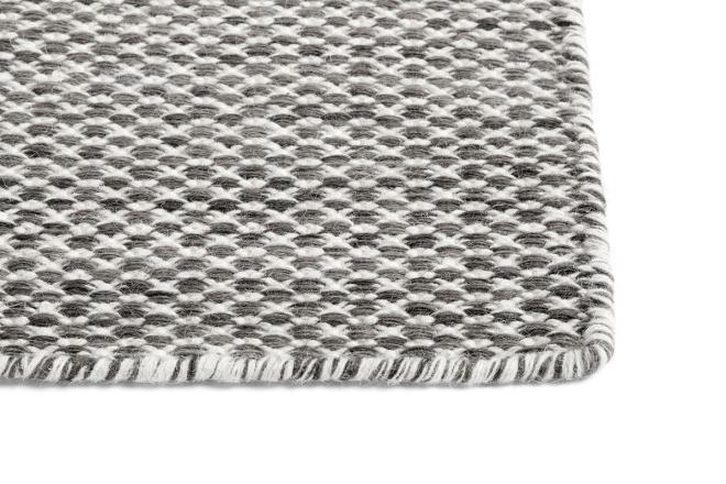 Teppich Moiré Kelim grau | groß
