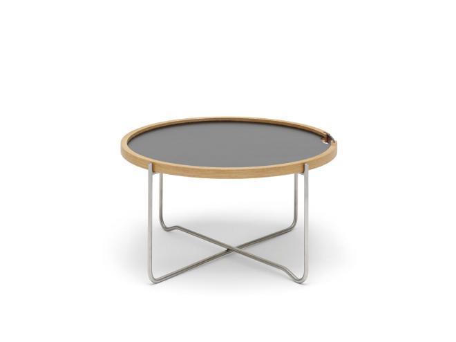 Tray Table CH417 Laminat schwarz/Eiche geölt