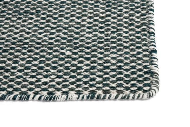 Teppich Moiré Kelim dunkelgrün   groß
