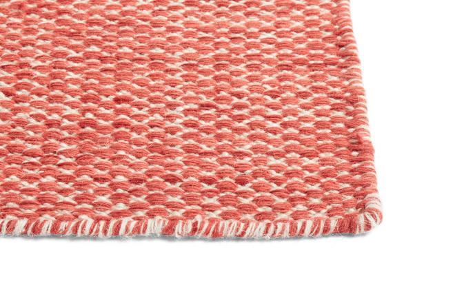 Teppich Moiré Kelim koralle | groß