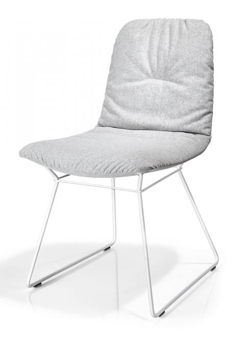 Stuhl Leya Stoff | Kunststoffgleiter