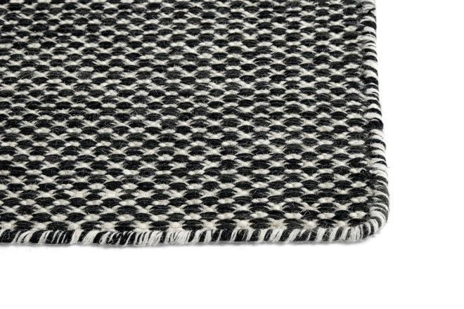 Teppich Moiré Kelim schwarz | klein