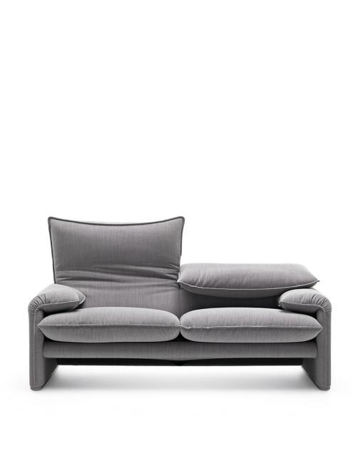Sofa 675 Maralunga Maxi 2-sitzig | grau