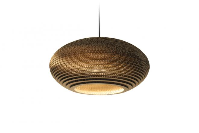 Pendelleuchte Scraplights Disc Natural