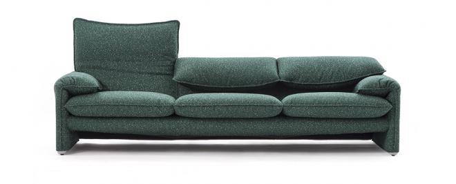 Sofa 675 Maralunga Maxi 3-sitzig | petrol