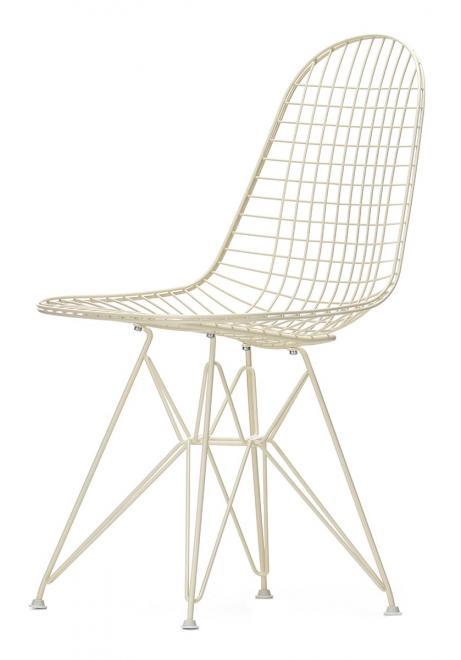 Wire Chair DKR creme | Gleiter Weiß (Hartboden)