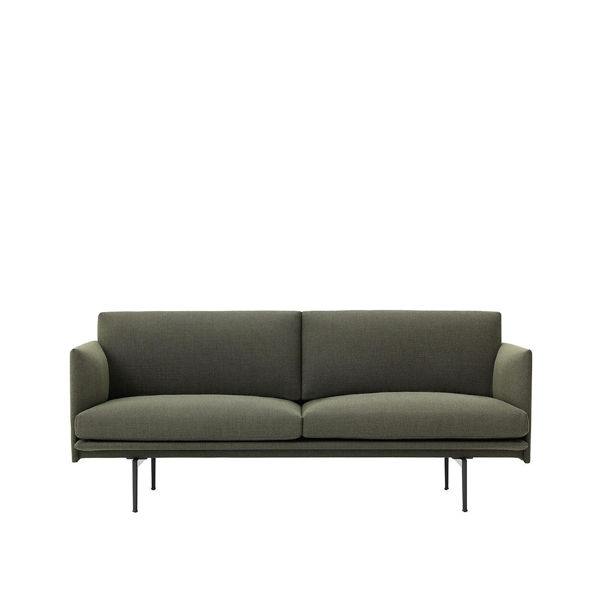 sofa outline khaki gr n. Black Bedroom Furniture Sets. Home Design Ideas