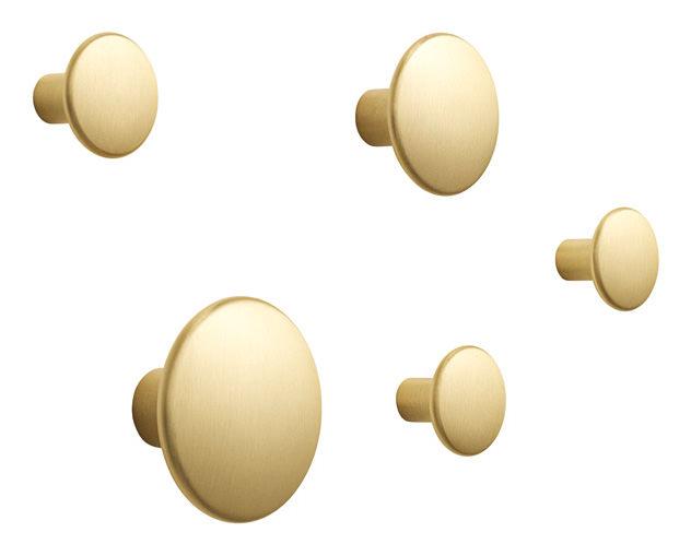 Garderobenhaken the dots 5er set metal for Garderobe dots